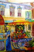 The Flowercart Print by Carole Spandau