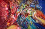 The Flowers And Butterflies Print by Elena Kotliarker