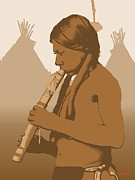 Robert Bissett Prints - The Flute Player Print by Robert Bissett