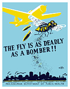World War Ii Bomber Framed Prints - The Fly Is As Deadly As A Bomber Framed Print by War Is Hell Store