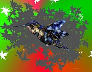 Postcard Prints - The fly of hummingbird Print by Mario  Perez