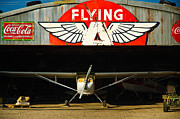 Hangar Framed Prints - The Flying A Hangar Framed Print by Marius Sipa