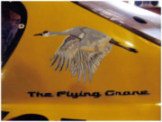 Nascar Paintings - The Flying Crane by Richard Le Page