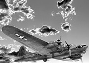 Boeing Metal Prints - The Flying Fortress Metal Print by David Bearden
