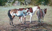 Three Pastels Metal Prints - The Flyswatters Metal Print by Mary Ann Cherry