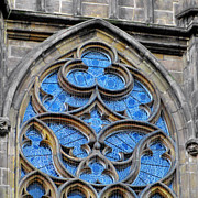 Churches Photos - The folly of windows in Prague by Christine Till