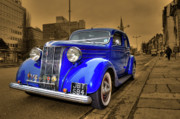 Ford Custom V8 Posters - The Ford Pilot Poster by Rob Hawkins