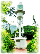 Fort Canning Digital Art Framed Prints - The Fort Canning Lighthouse Framed Print by Steve Taylor
