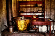 Antique Photos - The Fort Nisqually Wash Room by David Patterson