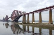 Train Digital Art Posters - The Forth - Scotland Poster by Mike McGlothlen
