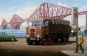 1950s Painting Framed Prints - The Forth Bridge Framed Print by Mike  Jeffries