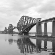 Train Digital Art Posters - The Forth II Poster by Mike McGlothlen