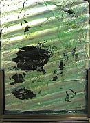 Contempory Glass Art - The Forth River Meets the Sea by Sarah King
