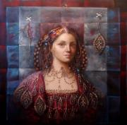 Archetype Painting Metal Prints - The Fortune Teller Metal Print by Loretta Fasan