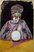 Astrology Drawings Posters - The Fortune Teller Poster by Tom Conway