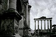 Roman Columns Prints - The Forum Print by Traveler Scout