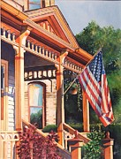 Historic Home Painting Prints - The Founders Home Print by Greg Halom