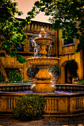 Tlaquepaque Sedona Arizona Posters - The Fountain at Patio Del Norte Tlaquepaque in Sedona Poster by David Patterson