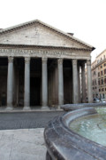 Fountain Print Prints - The Fountain in Front of Pantheon Print by Munir Alawi