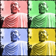 Signed Posters - The Four Buddhas Poster by Skip Nall