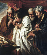Saint Luke Paintings - The Four Evangelists by Granger
