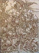 Works Pyrography - The Four Horsemen of the Apocalypse by Angelce  Miskov