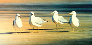 Buddies Paintings - The Foursome  by Frank Dalton
