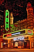 Photographers Fayette Prints - The Fox Theater Atlanta Ga. Print by Corky Willis Atlanta Photography
