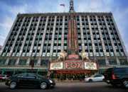 Fox Digital Art - The Fox Theatre in Detroit Welcomes Charlie Sheen by Gordon Dean II