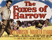 Posth Posters - The Foxes Of Harrow, Rex Harrison Poster by Everett