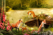 The Foxgloves Print by Trudi Simmonds