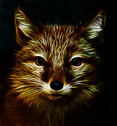 Fox Digital Art - The Fractal Fox by Stefan Kuhn