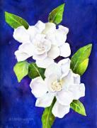 Gardenias Framed Prints - The Fragrant Gardenia Framed Print by Arline Wagner