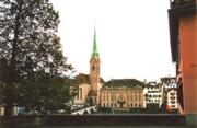 The Fraumunster Abbey In Zurich Switzerland Print by Susanne Van Hulst