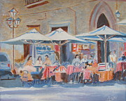 Old Street Paintings - The French Cafe by Mary Jaderjian