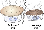 The Economy Mixed Media - The French Economy Souffle by OptionsClick BlogArt