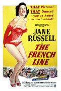 1954 Movies Posters - The French Line, Jane Russell, 1954 Poster by Everett
