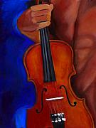 Vel Verrept Framed Prints - The French Violinist Framed Print by Vel Verrept