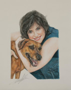 Canine Pastels - The Friendship by Terry Kirkland Cook
