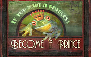 Frog Mixed Media Posters - The Frog Prince Poster by Joel Payne