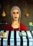 Humor. Painting Originals - The Fruit collector by Leah Saulnier The Painting Maniac