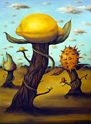 Pear Tree Painting Posters - The Fruit Orchard Poster by Leah Saulnier The Painting Maniac
