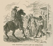 Slavery Photo Prints - The Fugitive Slave Law In Operation Print by Everett