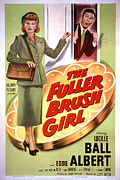 Shoulder Bag Framed Prints - The Fuller Brush Girl, Lucille Ball Framed Print by Everett