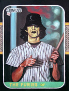 Baseball Card Painting Posters - The Furies - Yellow Fury - The Warriors Movie Poster by Ryan Jones