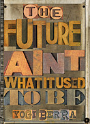 Catcher Mixed Media Posters - The Future Poster by Russell Pierce