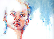 Watercolour Portrait Prints - The Future?... Print by Stephie Butler