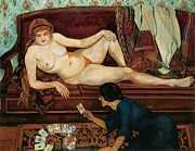 Fortune Telling Prints - The Future Unveiled Print by Suzanne Valadon