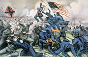 African-american Posters - The Gallant Charge Of The 54th Poster by Everett