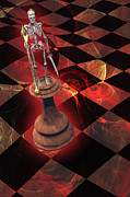 Chess Piece Digital Art Posters - The Game of Kings Poster by Carol and Mike Werner